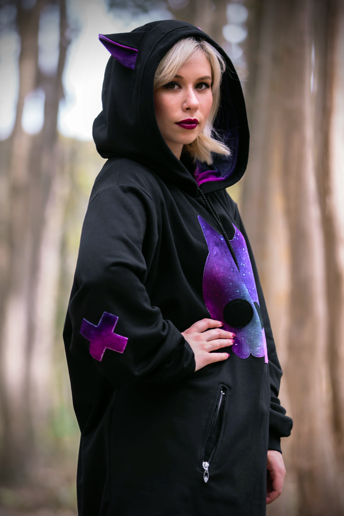 Fox Skull Hoodie (BLCK&GLXY) OG - Button Fox