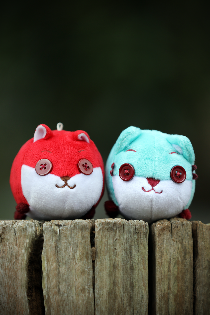 Mini Plush Toy - Button Fox