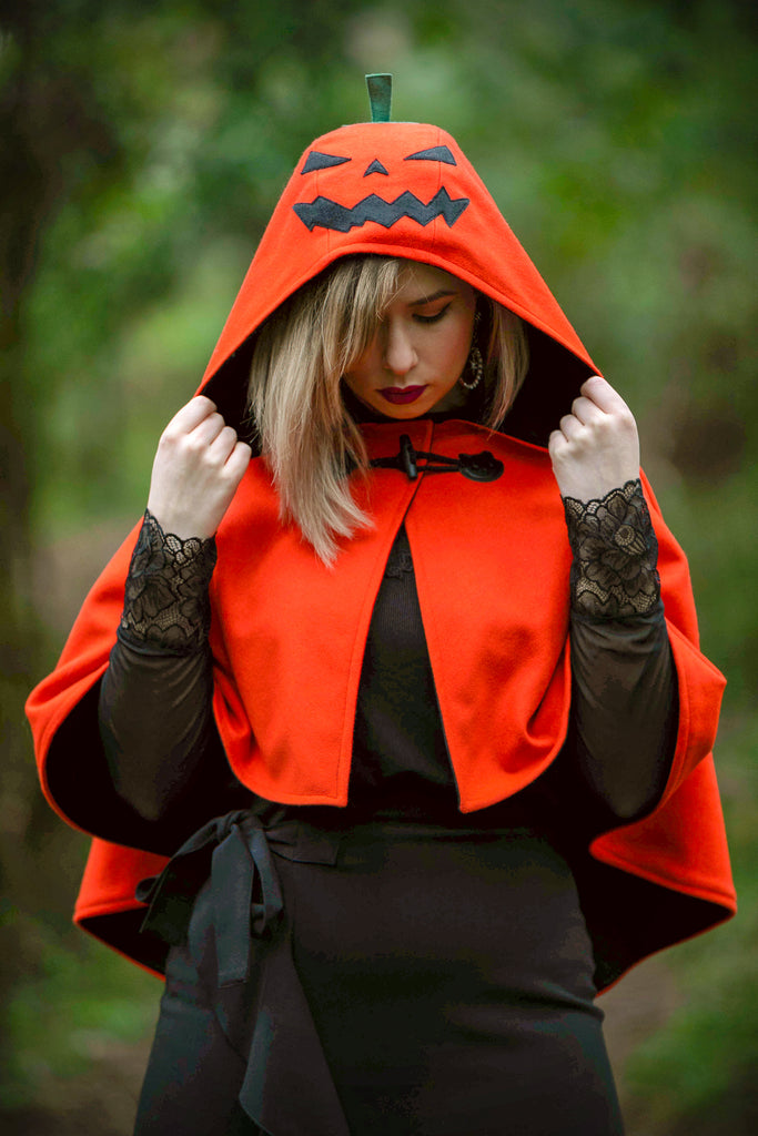 Jack 'o' Lantern Cape - Button Fox ボタン狐