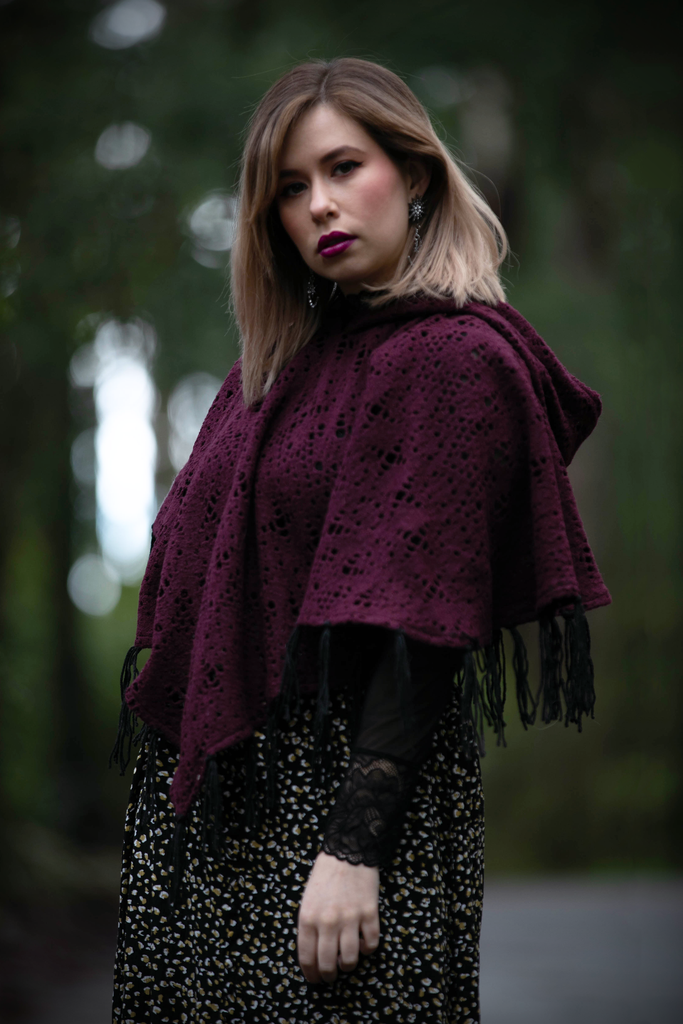 Witchy Poncho - Button Fox