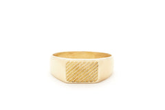 brass signet ring