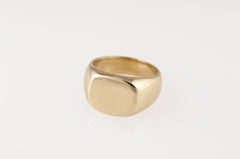 brass signet ring made by artist