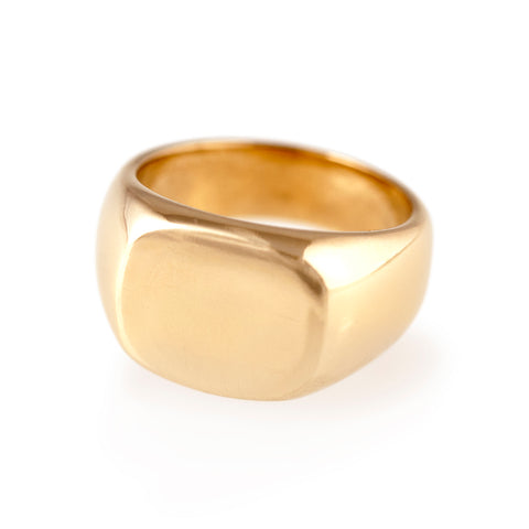Initial Ring in Solid Brass or Sterling Silver