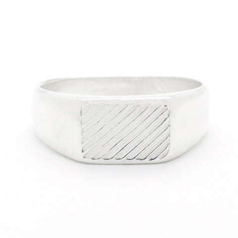 Diagonal Signet Ring