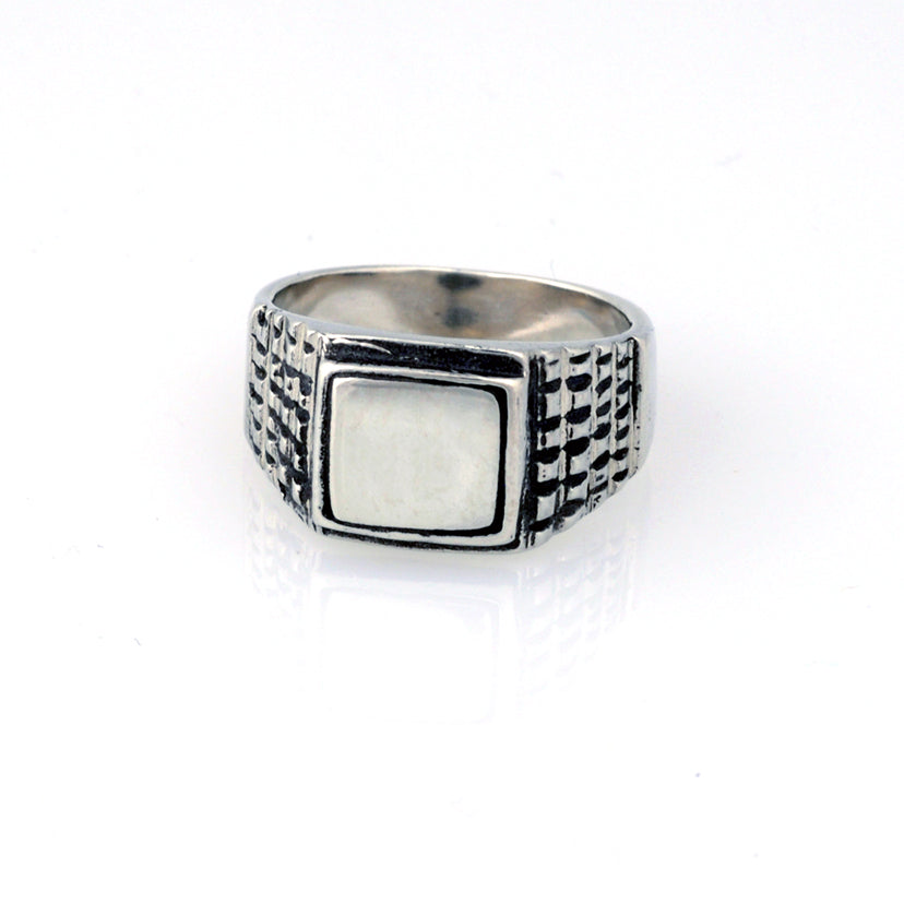 Stepped Signet Ring