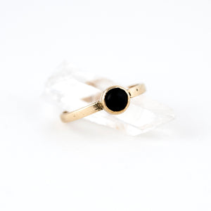 ring with onyx stone black onyx stone setting photographed crystal display