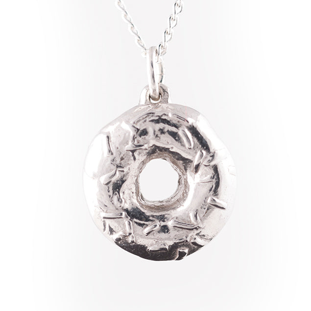 sterling silver donut necklace