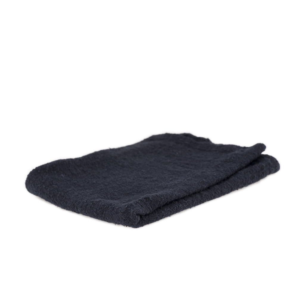 dark black shop rag style handkerchief