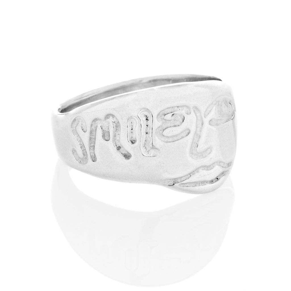 silver art jewelry ring designed by Andrew Guenther