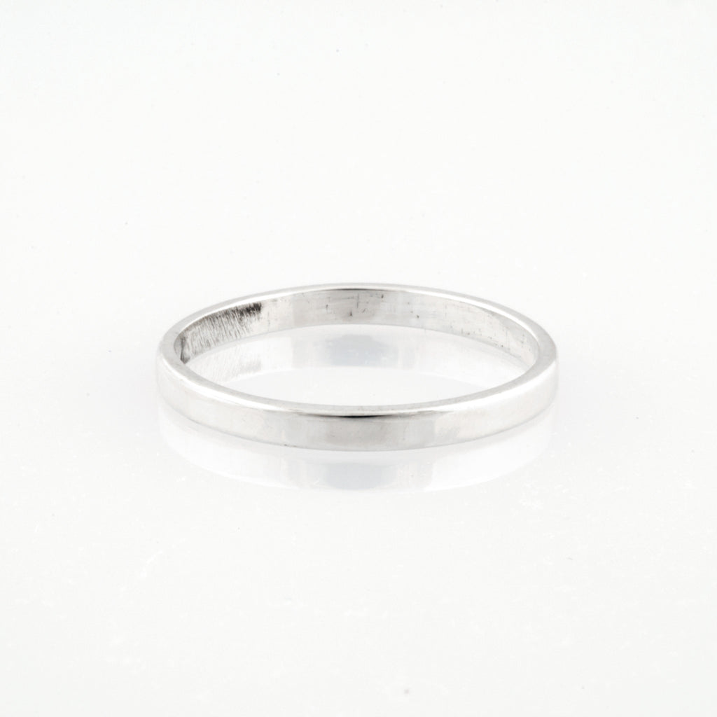 silver ring plain band d rings sterling shaped index