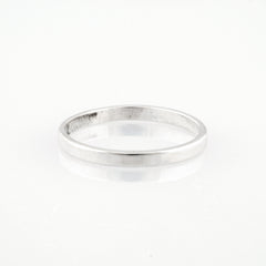 plain sterling silver band