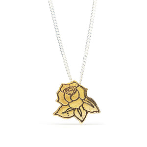 Rose Tattoo Pendant - Eat the Leaf