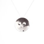 minimal face necklace