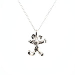 happy silver mouse necklace