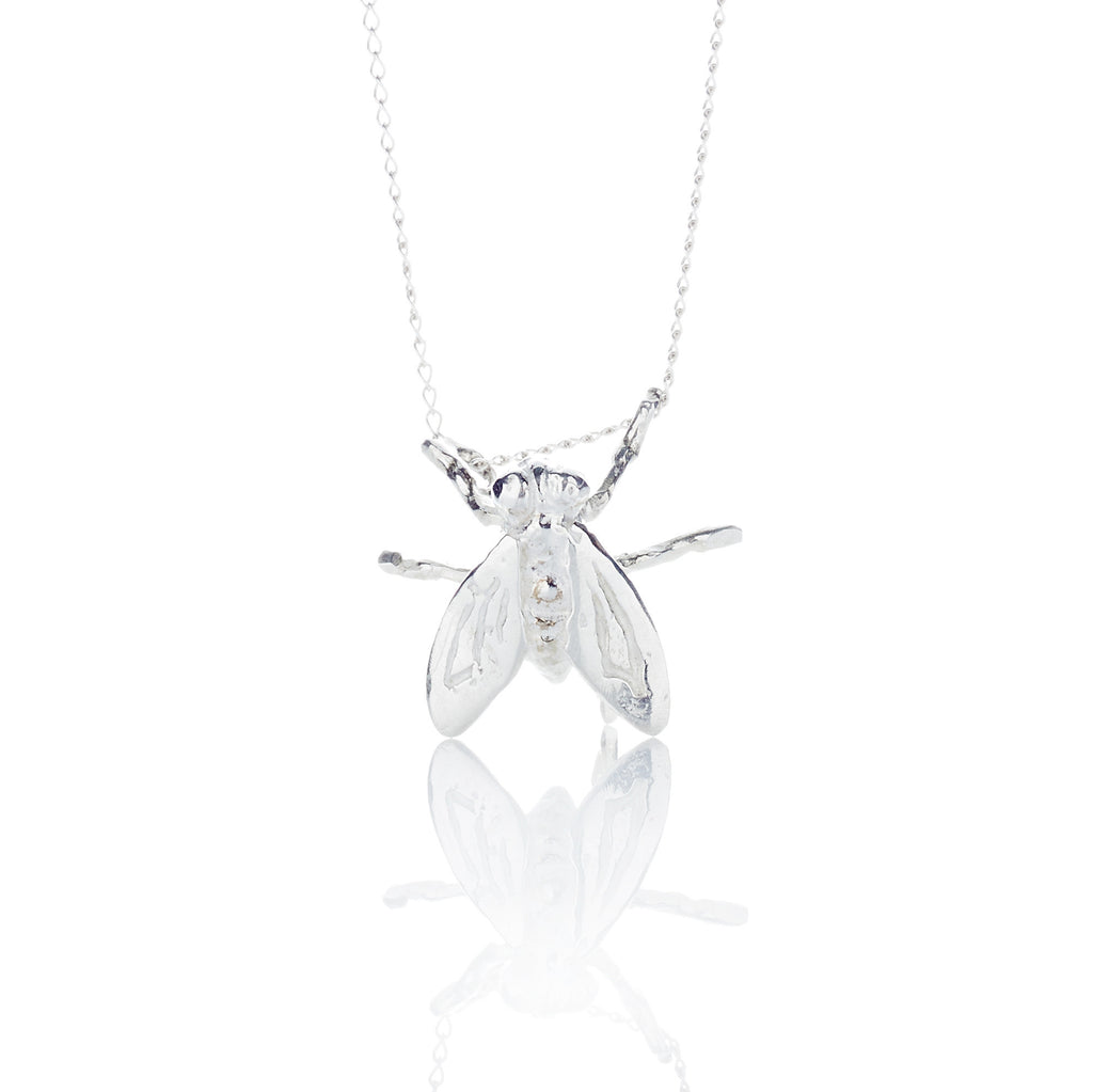 Solitary Fly Necklace