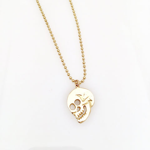 **NEW ITEM! : ) Brass Skull Pendant !!**