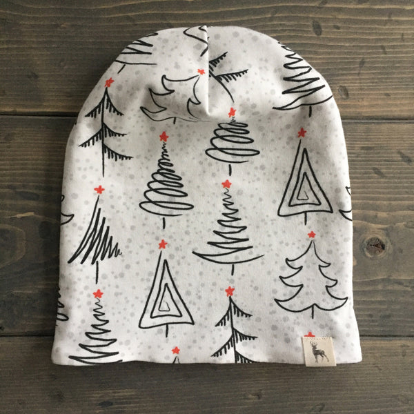 0-3m Slouchy Toque {festive trees}