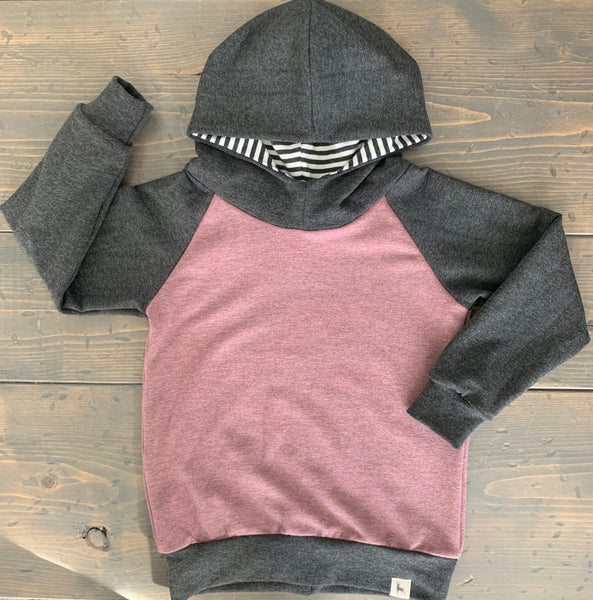 4T Raglan Hoodie {humankind: heather rose}