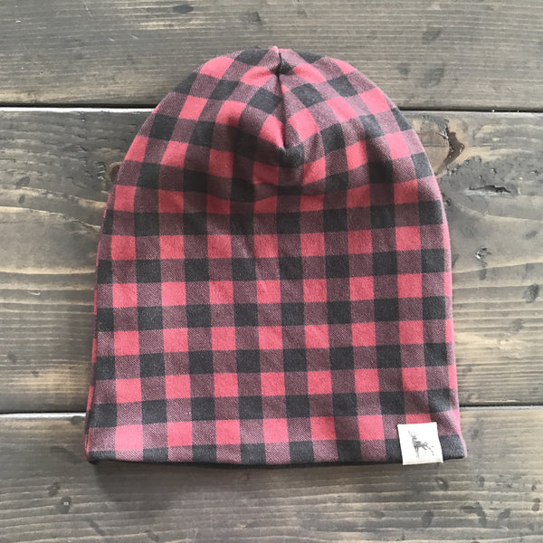 0-3m Slouchy Toque {buffalo plaid}