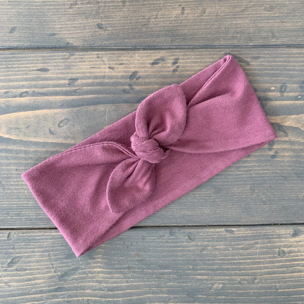 Adult Knot Headwrap {rose}