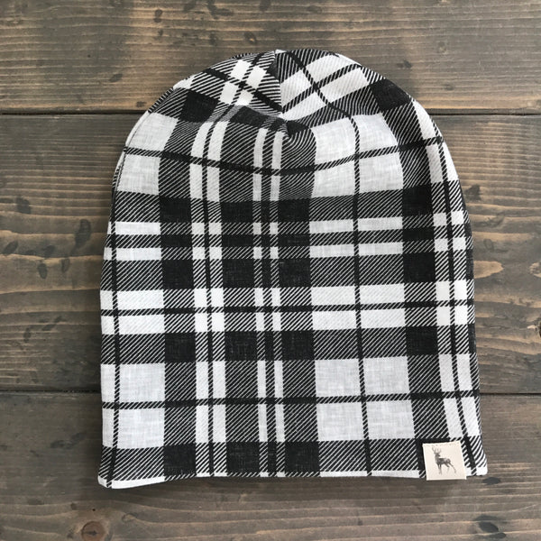 6-12m Slouchy Toque {plaid}