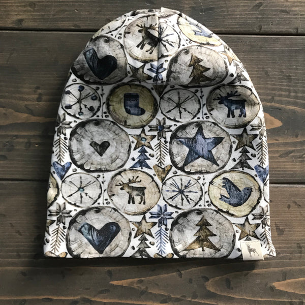 3-5yrs Slouchy Toque {rustic christmas}