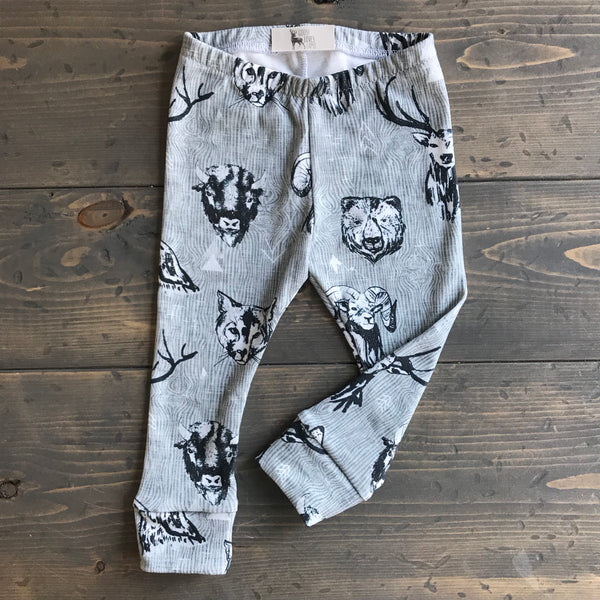 2T Organic Leggings {wild beasts}