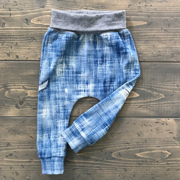2T Harems {distressed denim}