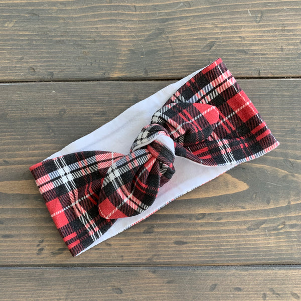 Toddler Knot Headwrap {plaid}
