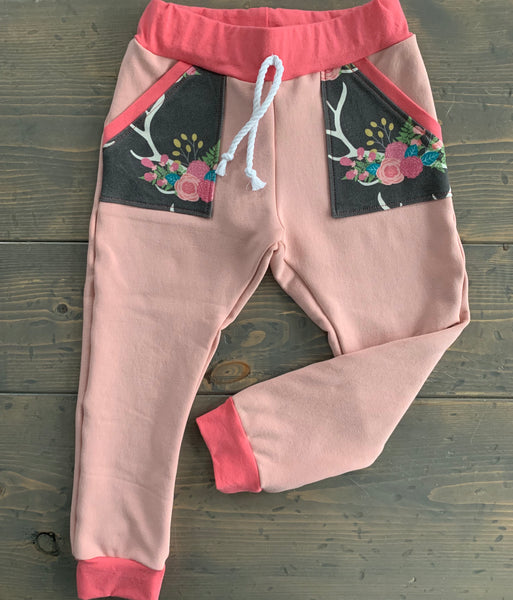 12-24m Joggers {boho antlers}