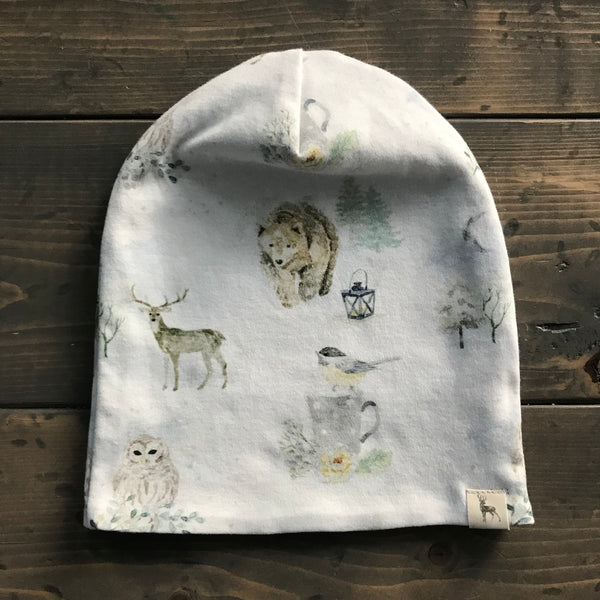 3-5yrs Slouchy Toque {winter wildlife}