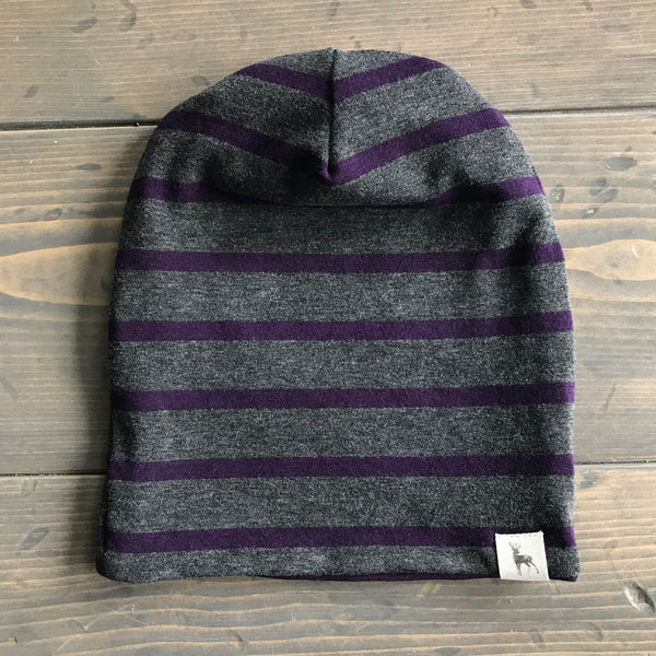1-3yrs Slouchy Toque {charcoal+plum}