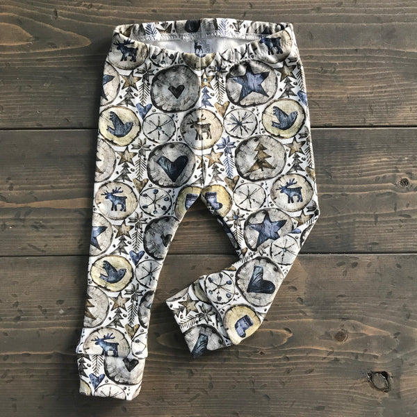 12-18m Organic Leggings {rustic christmas}