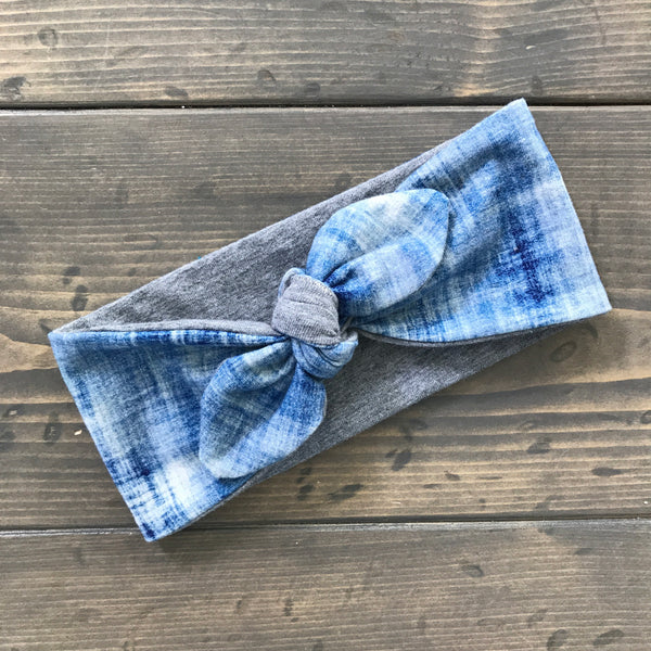 Knot Headwrap {distressed denim}