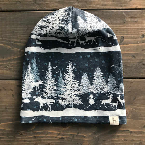 0-3m Slouchy Toque {snowy night}