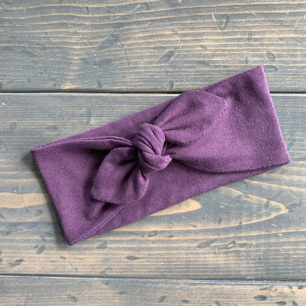 Adult Knot Headwrap {purple fawn}