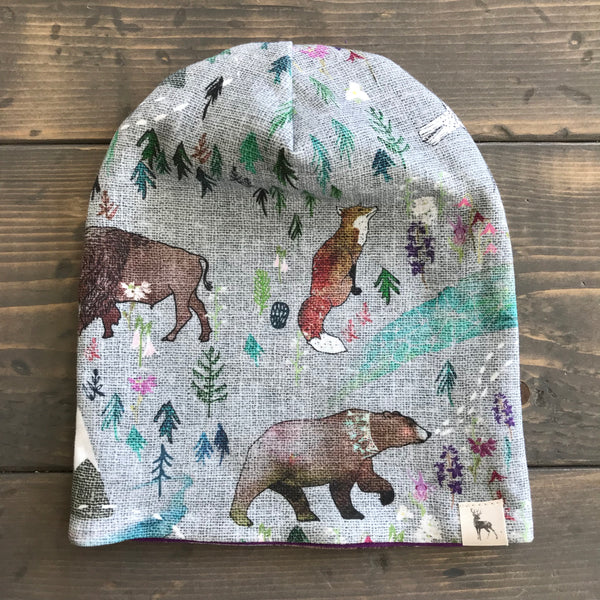6-12m Slouchy Toque {wildflower}