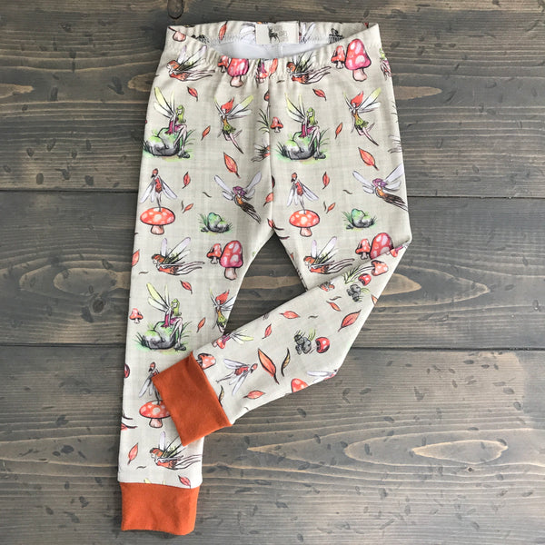 0-3m Organic Leggings {fall fairies}