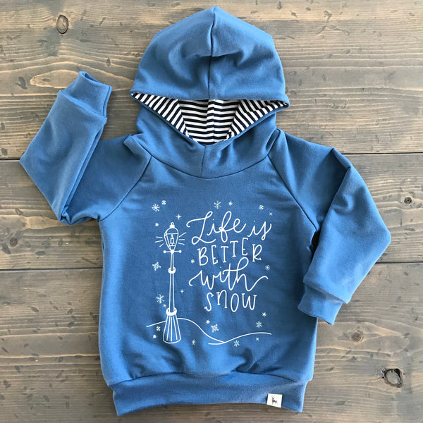 12-24m Raglan Hoodie {life is better with snow}