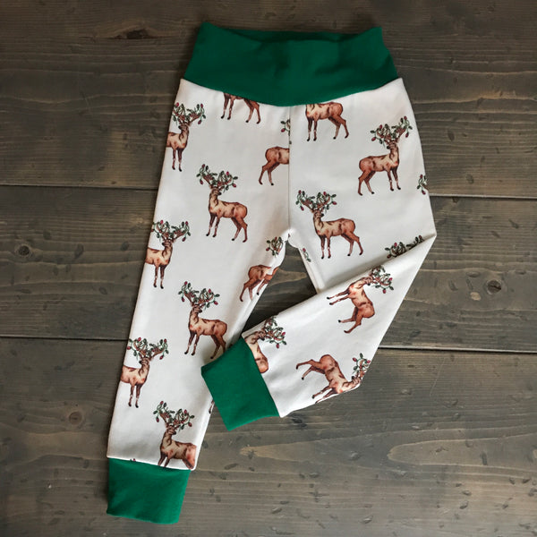 6-12m Organic Leggings {jolly reindeer}