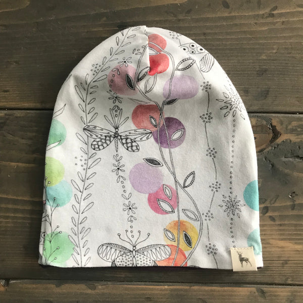 6-12m Slouchy Toque {butterfly}