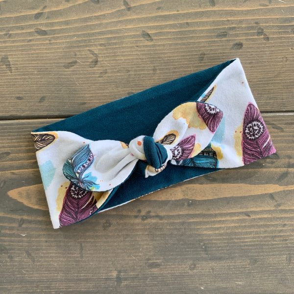 Toddler Knot Headwrap {free spirit feather}