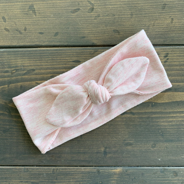 Toddler Knot Headwrap {pink lemonade}