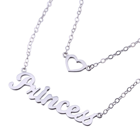 Sterling Silver Layered Name Necklace - ABC Necklace