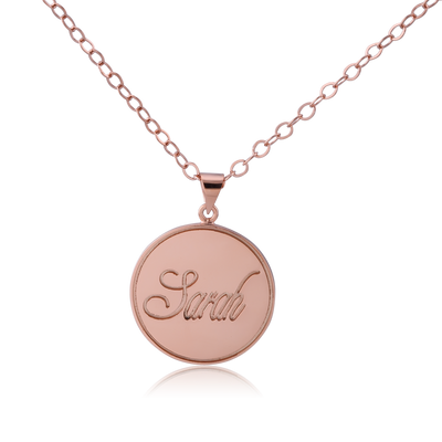 Rose Gold Plated Stamp Name Necklace - ABC Necklace