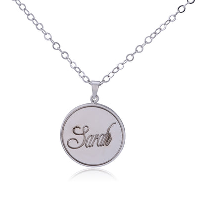 Sterling Silver Stamp Name Necklace - ABC Necklace