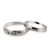 "Sterling Silver Engraved ""Love Forever"" Couple Ring - ABC Necklace"