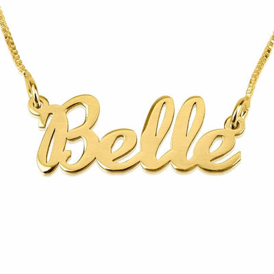 24K Gold Plated Handwriting Name Necklace - ABC Necklace