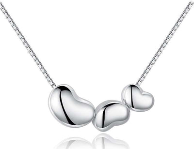 Sterling Silver Three Hearts Necklace - ABC Necklace