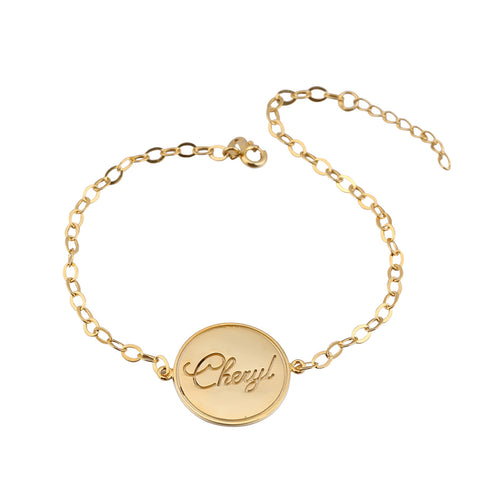 24K Gold Plated Stamp Name Bracelet - ABC Necklace